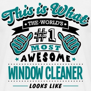 window cleaner world no1 most awesome co T-SHIRT - Men's T-Shirt