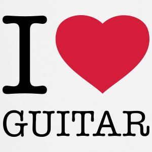 I LOVE GUITAR Kookschorten - Keukenschort