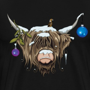 Black Christmas Highland Cow (Limited Edition) T-Shirts - Men's Premium T-Shirt