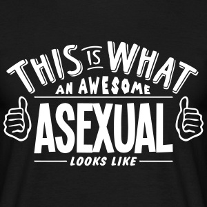 awesome asexual looks like pro design t-shirt - Men's T-Shirt