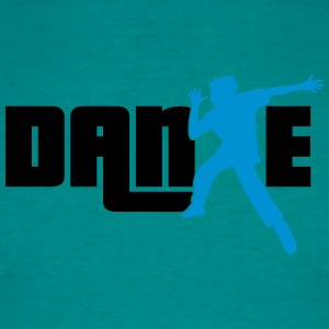 tekst logo ontwerp dance party dance man koele T-shirts - Mannen T-shirt
