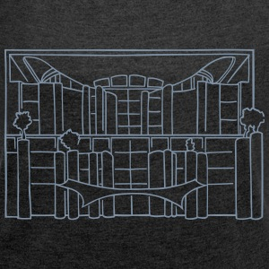 Chancellery in Berlin T-Shirts - Women's T-shirt with rolled up sleeves