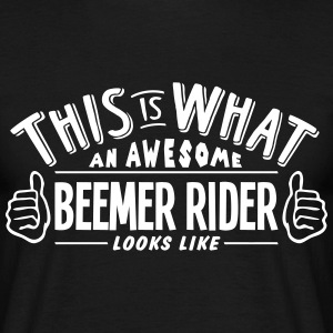 awesome beemer rider looks like pro desi t-shirt - Men's T-Shirt