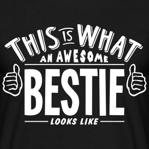 awesome bestie looks like pro design t-shirt - Men's T-Shirt