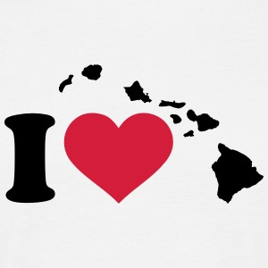 I love Hawaii T-Shirts - Männer T-Shirt