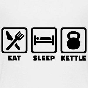 Eat sleep Kettlebell T-Shirts - Kinder Premium T-Shirt