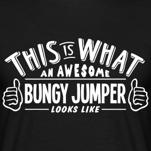 awesome bungy jumper looks like pro desi t-shirt - Men's T-Shirt