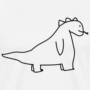fred, the dinosaur - Men's Premium T-Shirt
