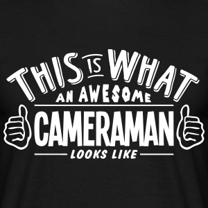 awesome cameraman looks like pro design t-shirt - Men's T-Shirt