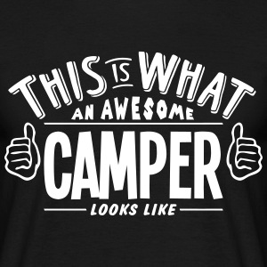 awesome camper looks like pro design t-shirt - Men's T-Shirt