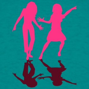 Reflection Shadow girlfriends few team friends fun T-Shirts - Men's T-Shirt
