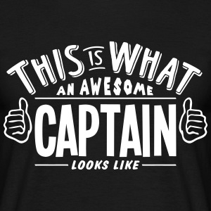awesome captain looks like pro design t-shirt - Men's T-Shirt
