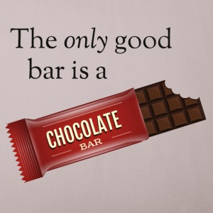 The only good bar is a chocolate bar Sonstige - Sofakissenbezug 44 x 44 cm