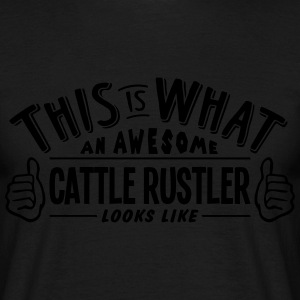 awesome cattle rustler looks like pro de t-shirt - Men's T-Shirt
