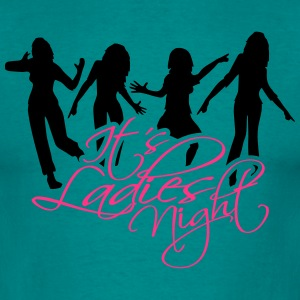 it's ladies night reflex shadow dancing crowd part T-Shirts - Men's T-Shirt