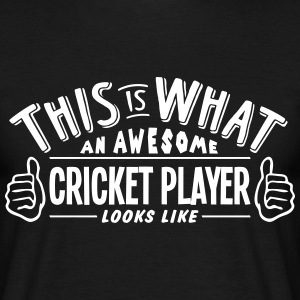 awesome cricket player looks like pro de t-shirt - Men's T-Shirt
