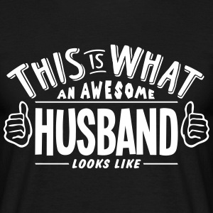 awesome husband looks like pro design t-shirt - Men's T-Shirt