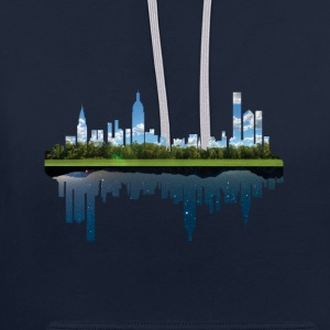 day and night - Kontrast-Hoodie
