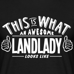 awesome landlady looks like pro design t-shirt - Men's T-Shirt