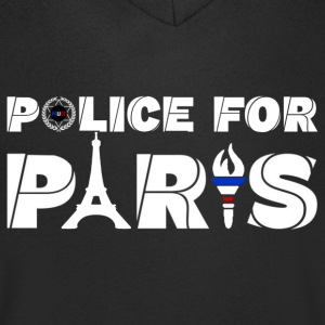 police for paris Tee shirts - T-shirt Homme col V
