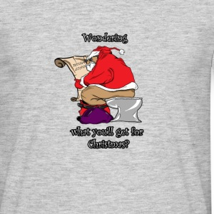 Santa Claus sitting on the Toilet - Men's T-Shirt