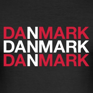 :: DANMARK :: T-shirts - Slim Fit T-shirt herr