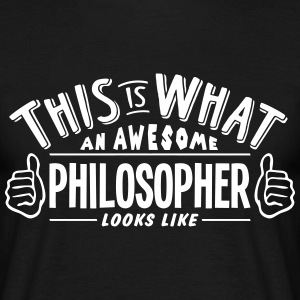 awesome philosopher looks like pro desig t-shirt - Men's T-Shirt