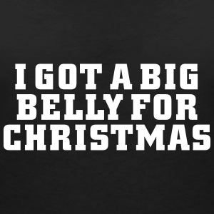Belly for Christmas T-Shirts - Women's V-Neck T-Shirt