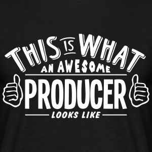 awesome producer looks like pro design t-shirt - Men's T-Shirt