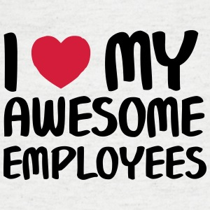I Heart My Awesome Employees T-shirts - T-shirt med v-ringning herr