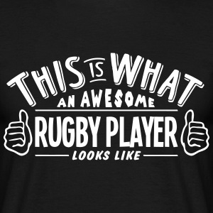 awesome rugby player looks like pro desi t-shirt - Men's T-Shirt