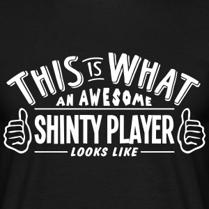 awesome shinty player looks like pro des t-shirt - Men's T-Shirt