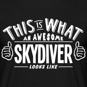 awesome skydiver looks like pro design t-shirt - Men's T-Shirt