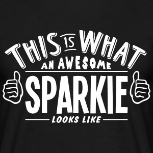awesome sparkie looks like pro design t-shirt - Men's T-Shirt