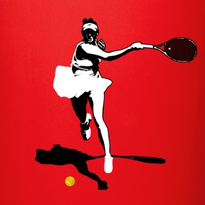Tennis player rovescio silhouette Tazze & Accessori - Tazza monocolore