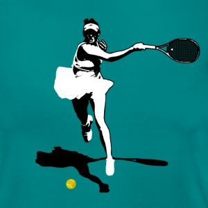 Tennis player silhouette revers Tee shirts - T-shirt Femme