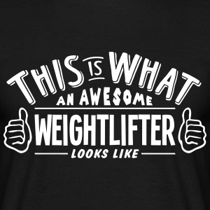 awesome weightlifter looks like pro desi t-shirt - Men's T-Shirt