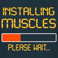 Design ~ installing muscles t-shirt