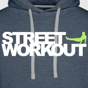 Street Workout Sweat-shirts - Sweat-shirt à capuche Premium pour hommes