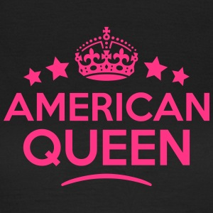 american queen keep calm style WOMENS T-SHIRT - Women's T-Shirt
