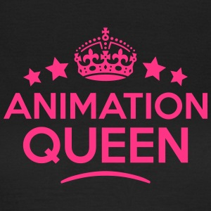 animation queen keep calm style WOMENS T-SHIRT - Women's T-Shirt