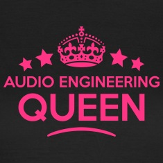 audio engineering queen keep calm style  WOMENS T-