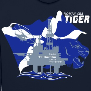 Oil Rig Oil Field North Sea Tiger Aberdeen - Contrast Colour Hoodie