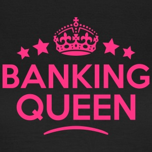 banking queen keep calm style WOMENS T-SHIRT - Women's T-Shirt