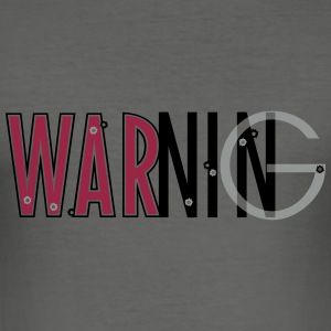 warning_vec_3 en T-Shirts - Men's Slim Fit T-Shirt