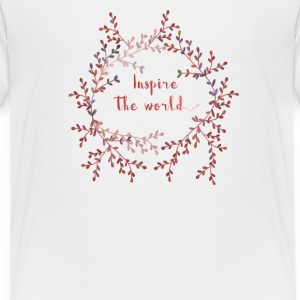 Inspire the world  Shirts - Kinderen Premium T-shirt
