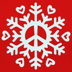 Peace & Love Snowflake Long Sleeve Shirts