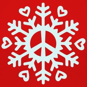 Peace & Love Snowflake Long Sleeve Shirts - Women's Premium Longsleeve Shirt