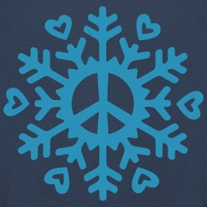 Peace & Love Snowflake Long Sleeve Shirts - Kids' Premium Longsleeve Shirt