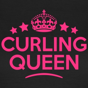 curling queen keep calm style WOMENS T-SHIRT - Women's T-Shirt